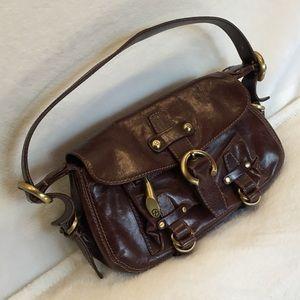 Francesco Biasia genuine leather shoulder bag